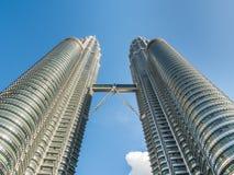 KUALA LUMPUR, MALEISIË - 29 FEBRUARI: Petronas Tweelingtorens beroemd Stock Afbeeldingen