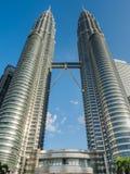 KUALA LUMPUR, MALEISIË - 29 FEBRUARI: Petronas Tweelingtorens beroemd Royalty-vrije Stock Fotografie