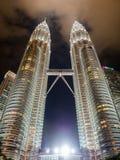 KUALA LUMPUR, MALEISIË - 29 FEBRUARI: Petronas Tweelingtorens beroemd Royalty-vrije Stock Afbeelding