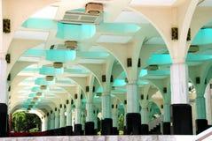 Kuala Lumpur, Maleisië: Het Binnenland van de moskee Royalty-vrije Stock Afbeelding