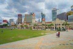 Kuala Lumpur, Maleisië - Maart 9, 2017: Het Merdekavierkant, letterlijk het Onafhankelijkheidsvierkant, is waar de Maleise vlag Royalty-vrije Stock Foto's
