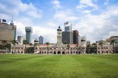 De horizon Dataran Merdeka van Kuala Lumpur Stock Afbeelding