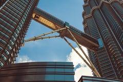 Kuala Lumpur, Malesia, dicembre 18,2013: Torri gemelle di Petronas, Kua Fotografia Stock Libera da Diritti