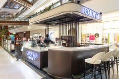 KUALA LUMPUR, MALESIA, il 18 aprile 2019: Godiva Chocolatier è un produttore belga del cioccolato e dei prodotti relativi godiva fotografia stock