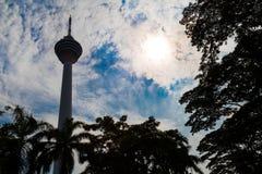 KUALA LUMPUR, MALESIA, IL 16 SETTEMBRE 2017: La torre di chilolitro è il sev Fotografia Stock