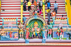 KUALA LUMPUR, MALESIA - 21 MARZO 2014: Decorazioni di Te indù fotografie stock libere da diritti