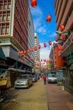 Kuala Lumpur, Malesia - 9 marzo 2017: Il mercato di strada di Petaling, nel cuore della Chinatown della città è un popolare Fotografie Stock