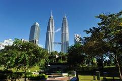 Kuala Lumpur, Malesia. Torri gemelle di Petronas. Fotografia Stock