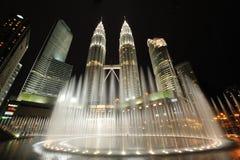 Kuala Lumpur, Malesia. Torri gemelle di Petronas. Immagini Stock Libere da Diritti