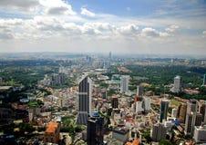 Kuala Lumpur, Malesia: Vista aerea della città Fotografia Stock