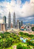 Kuala Lumpur, Malezja linia horyzontu Obrazy Royalty Free