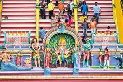 KUALA LUMPUR MALEZJA, MARZEC 21 2014, -: Dekoracje Hinduski Te zdjęcia royalty free