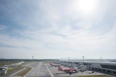 Kuala Lumpur Malezja, Marzec, - 24th 2018: Kuala Lumpur lotniska międzynarodowego terminal Obrazy Royalty Free