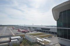 Kuala Lumpur Malezja, Marzec, - 24th 2018: Kuala Lumpur lotniska międzynarodowego terminal Zdjęcie Royalty Free