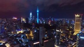 KUALA LUMPUR MALEZJA nocy widok z lotu ptaka Obrazy Royalty Free