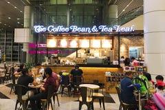 Kuala Lumpur, Malezja 29 2016 Nov - Kawowej fasoli & herbaty liść Zdjęcie Royalty Free