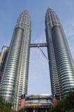 KUALA LUMPUR, MALEZJA Petronas bliźniacze wieże, KLCC obrazy royalty free
