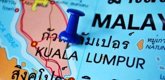 Kuala lumpur map Royalty Free Stock Photo