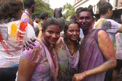 Holi Devotees Stock Image