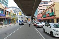 Kuala lumpur Masjid Jamek busy street Royalty Free Stock Photo