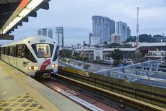 Kuala Lumpur metro. Kuala Lumpur`s metro or rapid transit system consists of 6 metro lines operated by 4 operators. Among the 4 operators, Rapid Rail and KTM Stock Photography