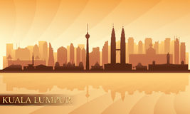 Kuala Lumpur miasta linia horyzontu Zdjęcia Royalty Free