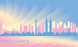 Kuala Lumpur miasta linia horyzontu Ilustracja Wektor