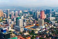 Kuala Lumpur miasta linia horyzontu z drapaczami chmur fotografia stock