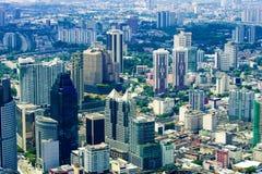 Kuala Lumpur miasta linia horyzontu z drapaczami chmur obraz stock