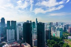 Kuala Lumpur miasta linia horyzontu z drapaczami chmur, Malezja obraz royalty free