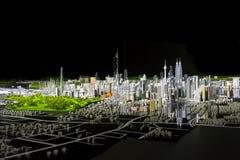 Kuala Lumpur modell på natten Fotografering för Bildbyråer