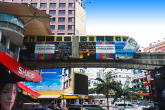 Kuala Lumpur monorail Arkivfoto
