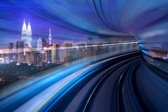 Kuala Lumpur Morden-Stadt und intelligentes Transportkonzeptfoto lizenzfreie stockfotos
