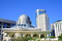 Kuala Lumpur moské Arkivbild