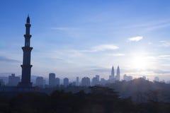 Kuala Lumpur Mosque Citys scape Stock Photo