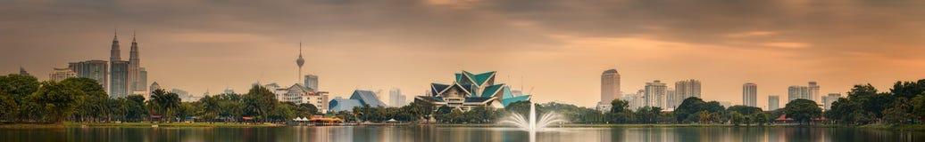 Kuala Lumpur nattlandskap, slotten av kultur Fotografering för Bildbyråer