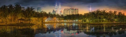Kuala Lumpur nattlandskap, slotten av kultur Arkivbilder