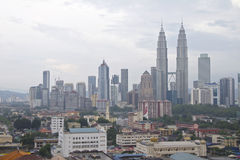 Kuala Lumpur nebbioso Fotografie Stock