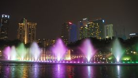 Kuala Lumpur at the night Royalty Free Stock Image
