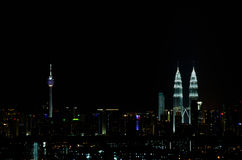 Kuala Lumpur at night Royalty Free Stock Photography