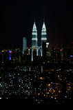 Kuala Lumpur at night Royalty Free Stock Image