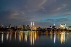 Kuala Lumpur Night Cityscape Fotografía de archivo libre de regalías
