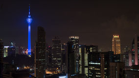 Kuala Lumpur night cityscape with Menara KL Tower Stock Photo