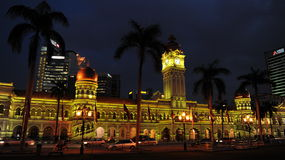 Kuala Lumpur at Night. General view of the Sultan Abdul Samad Building on February 14, 2012 in Kuala Lumpur, Malaysia. The Malay capital was founded in 1859 and Royalty Free Stock Images
