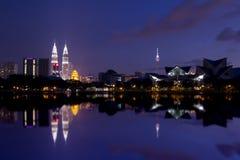 Kuala Lumpur. Night landscape of Kuala Lumpur city Royalty Free Stock Photo