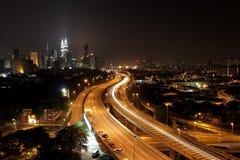 Kuala Lumpur Night Scene II Stock Photo