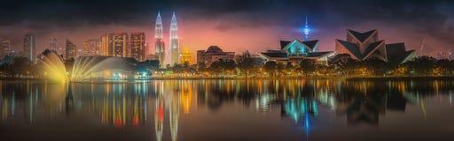 Kuala Lumpur night Scenery, The Palace of Culture Stock Image