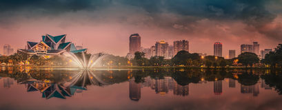 Kuala Lumpur night Scenery, The Palace of Culture Stock Images