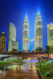 Kuala Lumpur night Scenery in the park, Malaysia Stock Photos