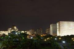 Kuala Lumpur night skyline Stock Photos
